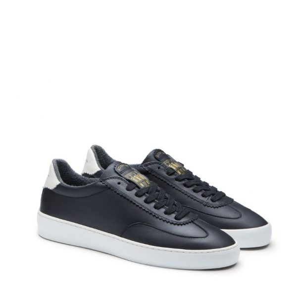 Chaussures-Traces-Plakka- Sneakers-cuir-noir