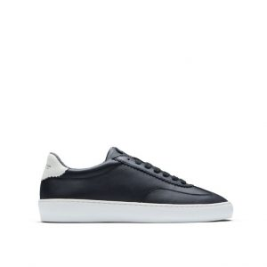 Chaussures-Traces-Sneakers-scotch-and-soda-cuir-noir-Plakka