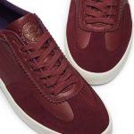 Chaussures-Traces-Plakka-Sneakers-daim-cuir-bordeaux