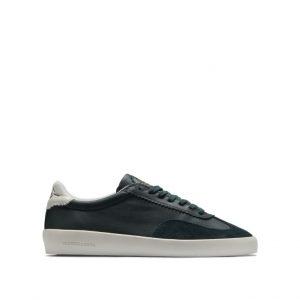 Chaussures-Traces-Plakka-Sneakers-daim-cuir-verte