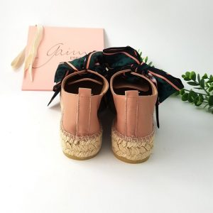 Chaussures-Traces-espadrilles-runni-lazo-rose