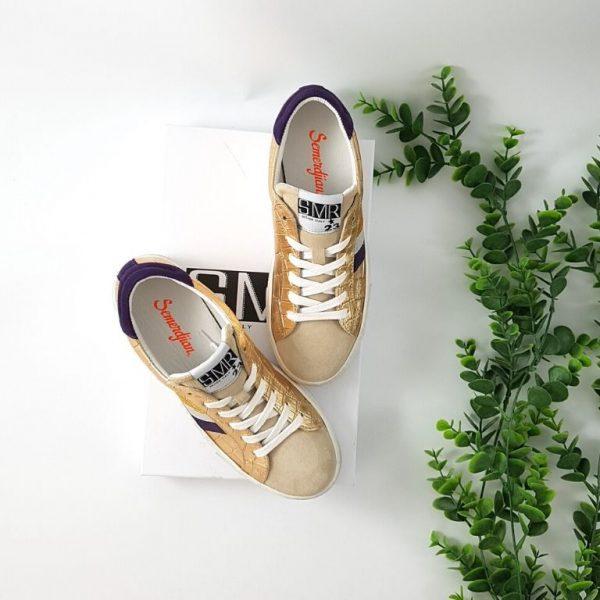 Chaussures-Traces-gal-3100-dorée