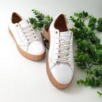 Chaussures-traces-Baskets-plateforme-pailleté-doré