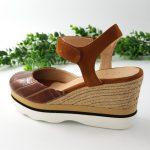 Chaussures-Traces-Espadrille-marron-semelle-sport-Lambada
