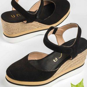 Chaussures-Traces-Espadrille-noir-semelle-sport-Lambada