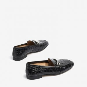 Chaussures-Traces-Mocassin-cuir-effet-crocodile-Dalcy