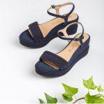Chaussures-Traces-Sandale-tressage-semelle-compensée-Katia