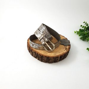 chaussures-traces-Ceintures-argent-cuir-BL306-30-mm