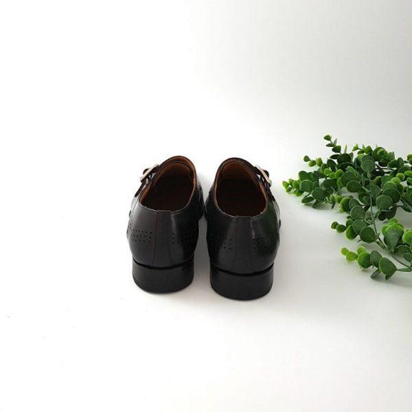 chaussures-traces-Derbies-Alexander-Bennett-cuir-noir-boucle-1602