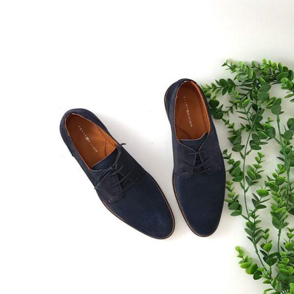 chaussures-traces-Derbies-daim-marine