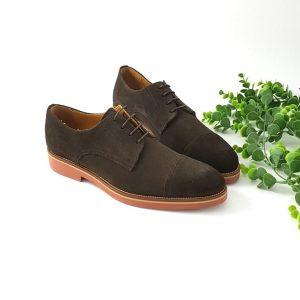 chaussures-traces-Derbies-daim-marron-1333