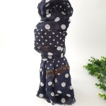 chaussures-traces-Foulards-ByO-marine-a-pois