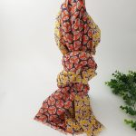 chaussures-traces-Foulards-ByO-moutarde-rouge-motifs-circulaires