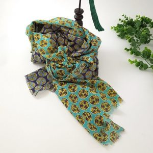 chaussures-traces-Foulards-ByO-vert-motifs-circulaires