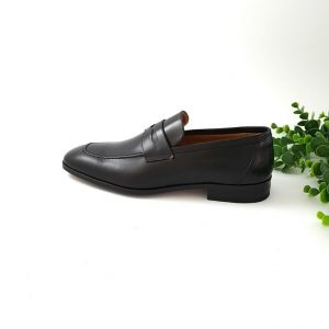 chaussures-traces-Mocassin-Alexander-Bennett-noir cuir-1588