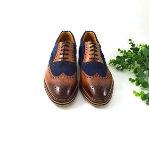 chaussures-traces-Richelieus-cuir-daim-bleu-1662