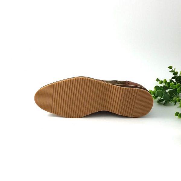 chaussures-traces-Richelieus-cuir-daim-kaki-1662