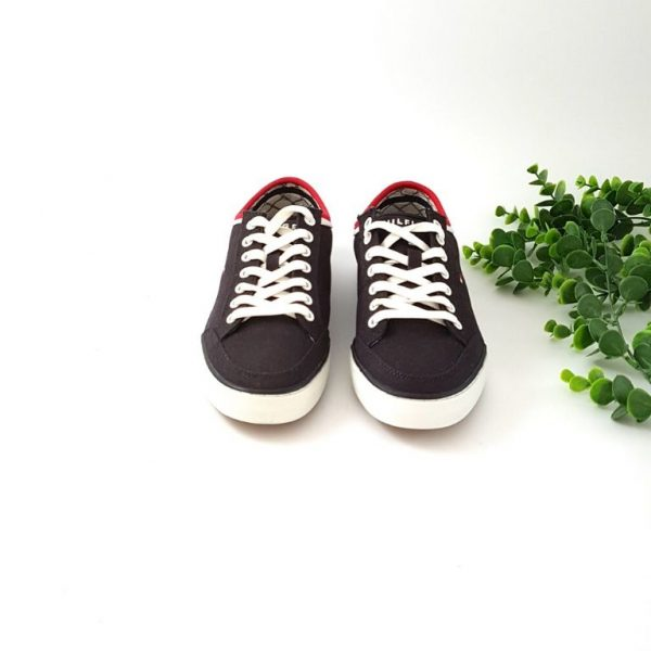 chaussures-traces-baskets-coton-marine
