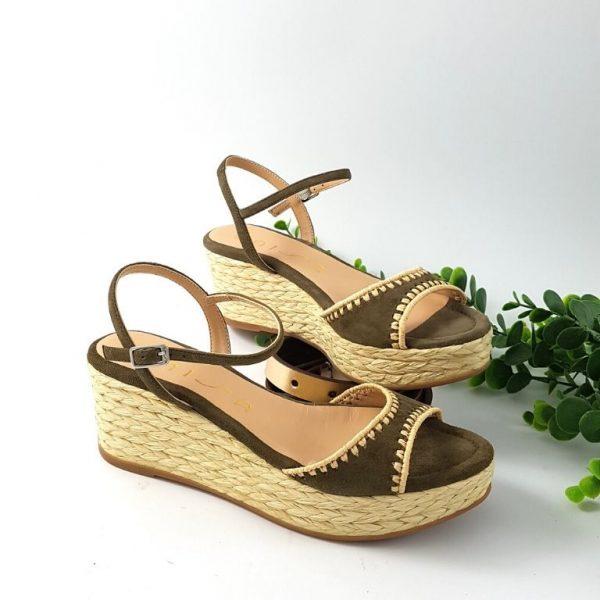 chaussures-traces-espadrilles-compensée-kisses-kaki-