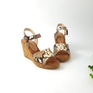 chaussures-traces-marian-Espadrilles-compensées-python-Beige-1