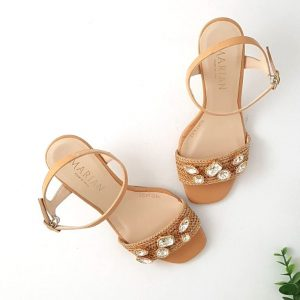 chaussures-traces-Sandales-Marian-Beige-Strass