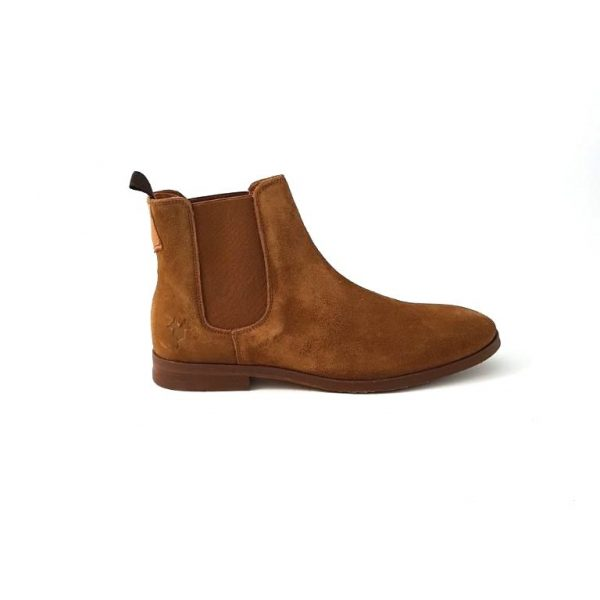 Chaussures-traces-Kost-Chelsea-boots-Cognac-Connor