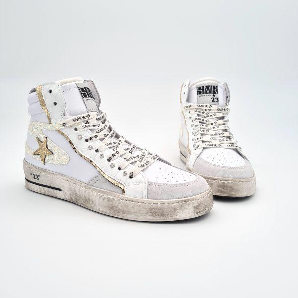 chaussures-traces-Basket-Semerdjian-Maral-4566-Cuir-Glitter-Blanc