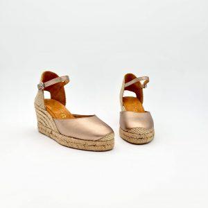 chaussures-traces-Espadrilles-Unisa-CACERES-Cuir-Bronze