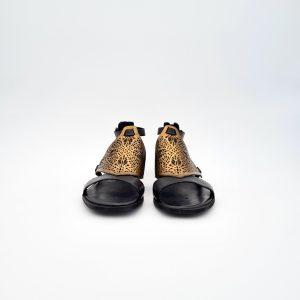 chaussures-traces-Sandales-Mjus-M98014-Noir-Or