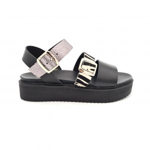 chaussures-traces-Sandales-cuir-WEDO-CO45006-Noir-Zèbre-Gris