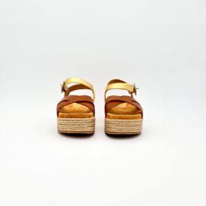 chaussures-traces-Sandales-plateforme-Unisa-CALLIGAN-Doré-Camel