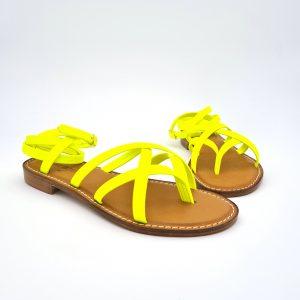 chaussures-traces-Sandales-spartiates-Petra-Jaune-Fluo