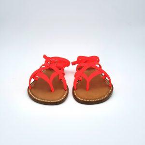 chaussures-traces-Sandales-spartiates-Petra-Orange-Fluo