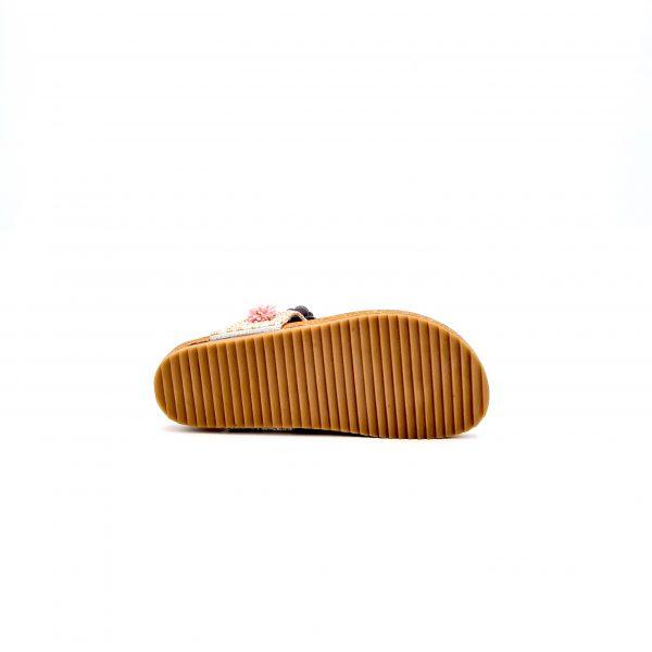 chaussures-traces-Mules-Santafé-Bio-Flower-Blanc-Nacré