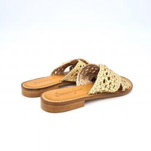 chaussures-traces-Mules-tressée-Semerdjian-Viola-Platino