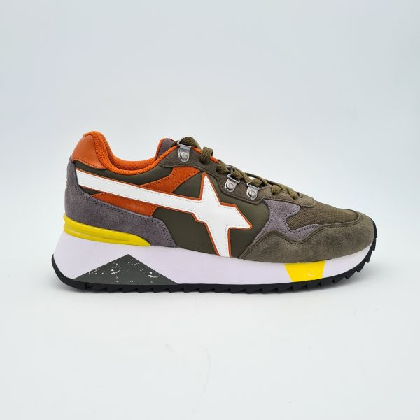 chaussures-traces-Sneakers-W6YZ-1F02-YAK-Militaire-Anthracite