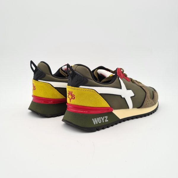 chaussures-traces-Sneakers-W6YZ-1F15-JET-Militaire-Yellow
